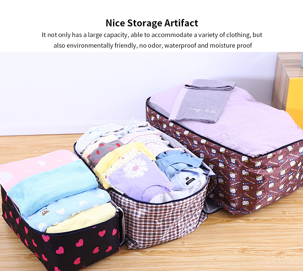 Oxford Moval Bag, Thicken Washable Quilt Storage Bag, Quilt and Clothes Oxford Cloth Storage Bag 4