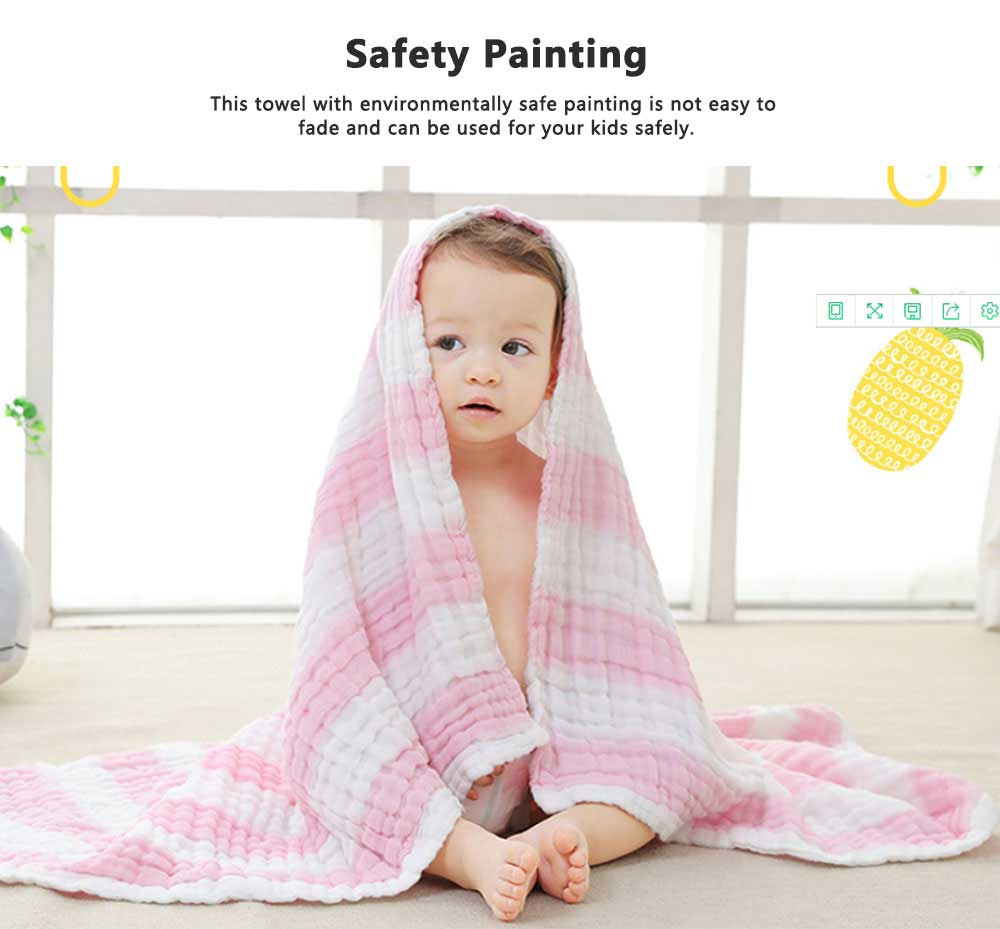 6 Layers Gauze Cotton Baby Bath Towel, Soft Smooth Baby Blanket Used in Summer, Sleeping Warp Blanket for Infants 3