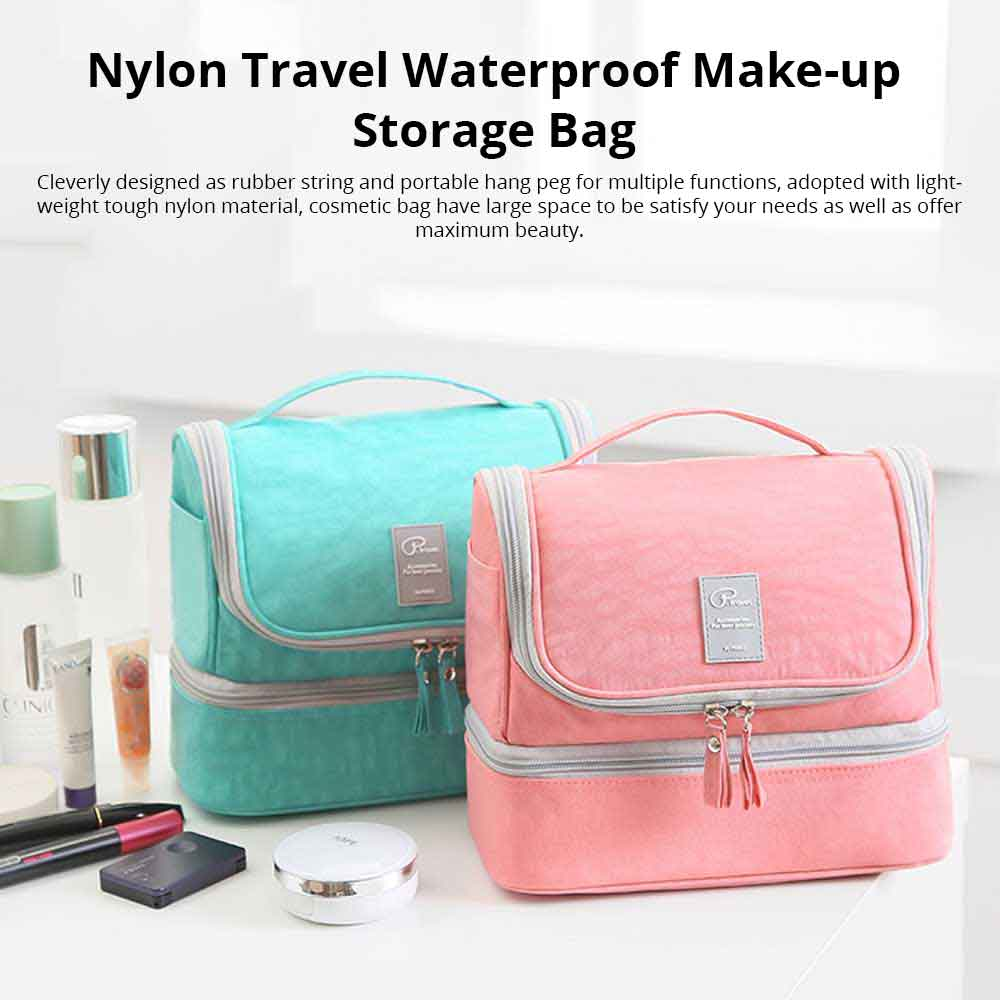 Large-Capacity Cosmetic Bag Washing Bag Nylon Travel Waterproof Make-up Storage Bag 0