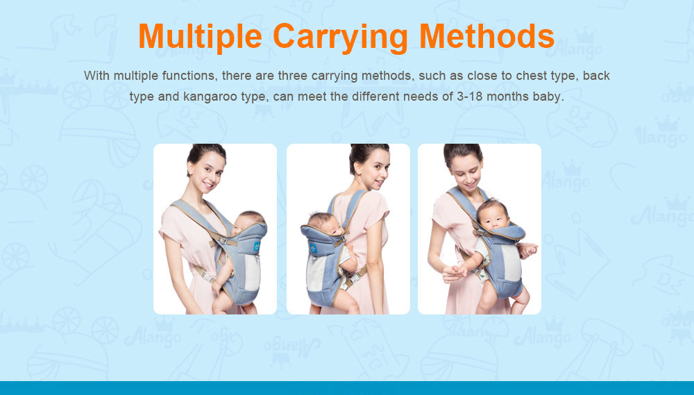 Multiple Functions Baby Carriers, WindproofDust-proof Infant Carrier Toddler Product Suitable for 3-18 Months Baby 2