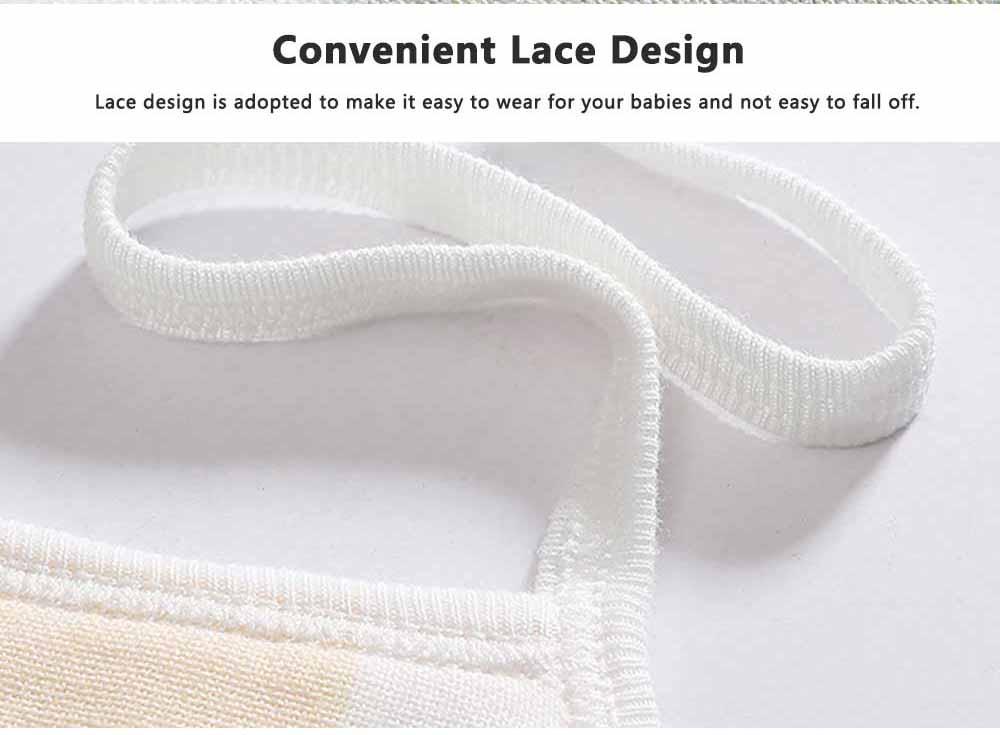 Cartoon Printing Cotton Gauze Baby Bib, Boys Girls Feeding Burp Cloths, Comfortable Newborn Infants Scarf Towel with Lace 2