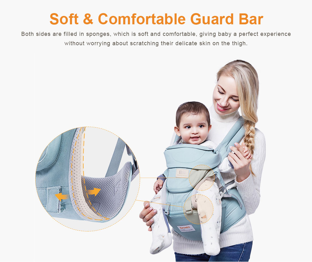 3 in 1 Toddler Waist Stool Baby Carrier, Multiple Functions Infant Breathable Child Stool Hold Infant and Toddler Product Suitable for All Seasons 3