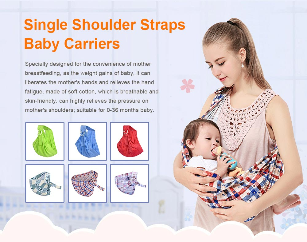 Baby Carriers with Single Shoulder Strap, Multiple Colors Carrier Toddler Product Suitable for Newborn Infants and Toddler 0