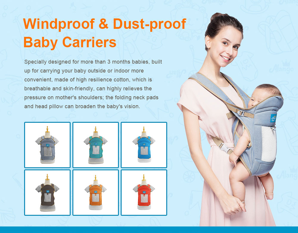 Multiple Functions Baby Carriers, WindproofDust-proof Infant Carrier Toddler Product Suitable for 3-18 Months Baby 0