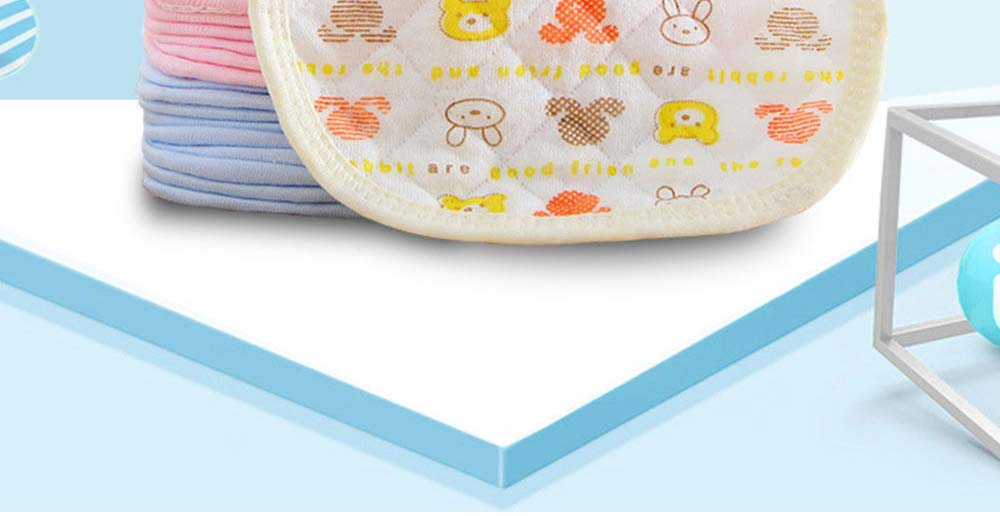 Luxury Smooth Cotton Baby Bibs, Insular Bids for New Born Babies, Cartoon Painting Soft Cotton Pinafore for Infant 1
