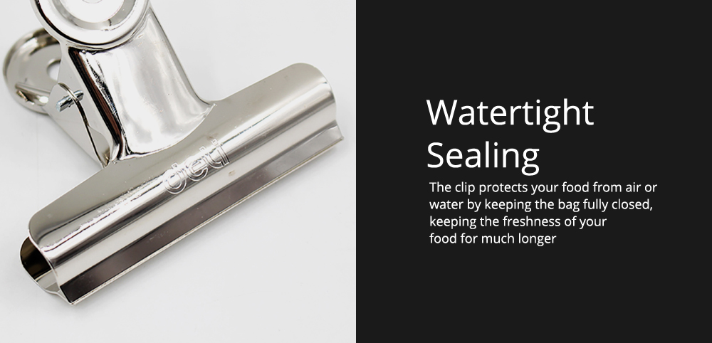 All-Purpose Heavy Duty Stainless Steel Metal Clip Holder with Strong Elastic Spring for Food 4