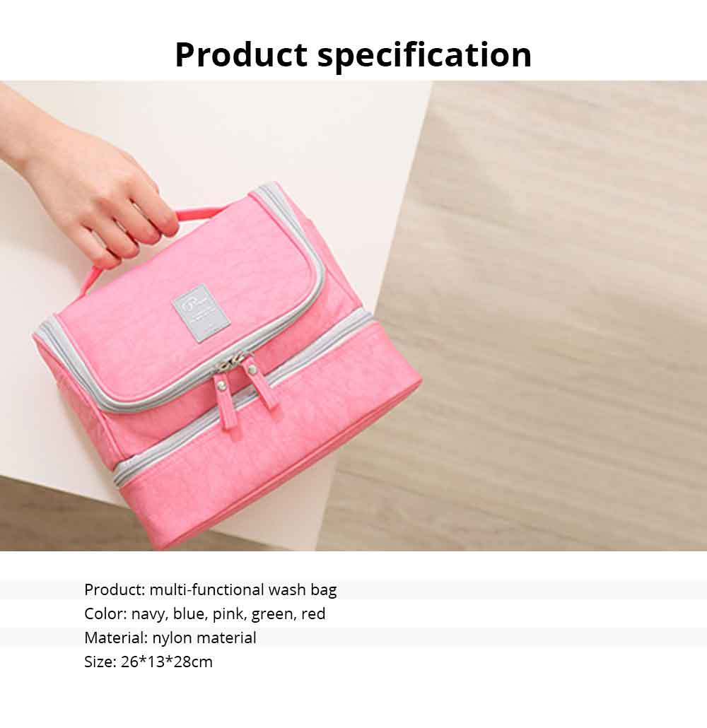 Large-Capacity Cosmetic Bag Washing Bag Nylon Travel Waterproof Make-up Storage Bag 6