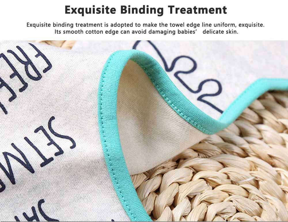 Creative Cartoon Baby Bib, 360 Degrees Rotation Burp Bibs for New Born Infants, Baby Feeding Head Scarf Towel with Convenient Snap Fastener 5