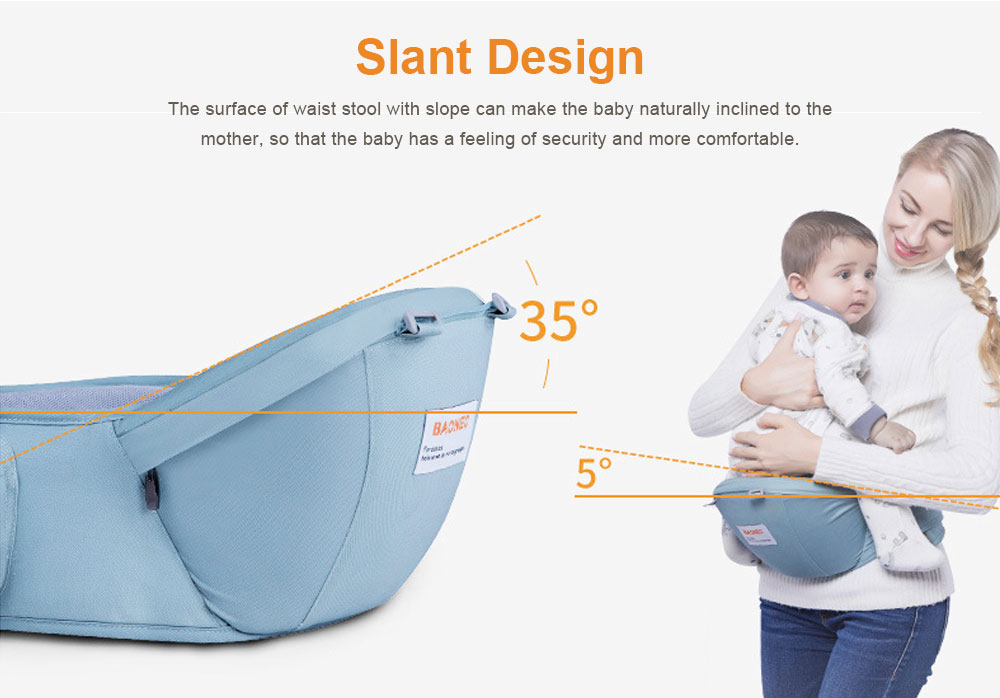 3 in 1 Toddler Waist Stool Baby Carrier, Multiple Functions Infant Breathable Child Stool Hold Infant and Toddler Product Suitable for All Seasons 7