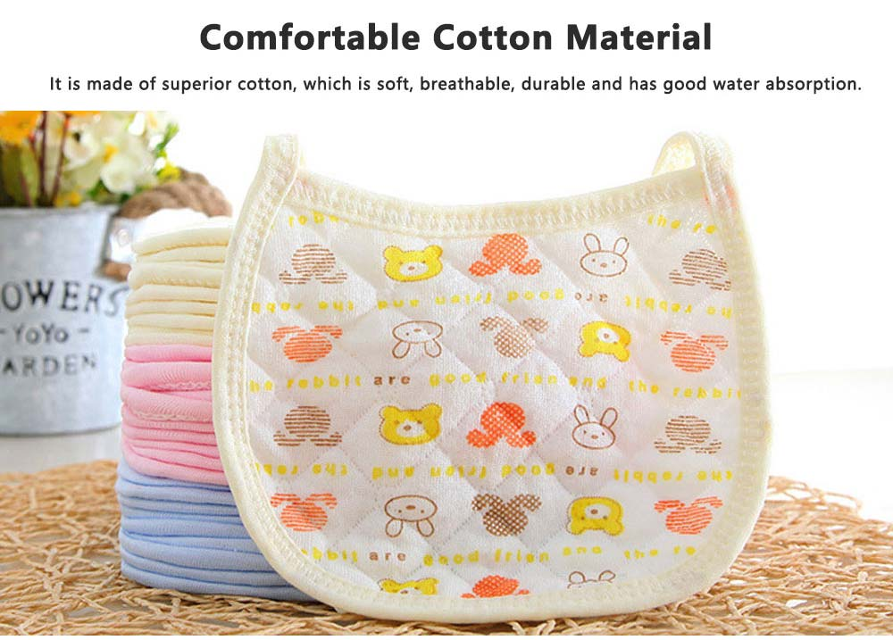 Luxury Smooth Cotton Baby Bibs, Insular Bids for New Born Babies, Cartoon Painting Soft Cotton Pinafore for Infant 2