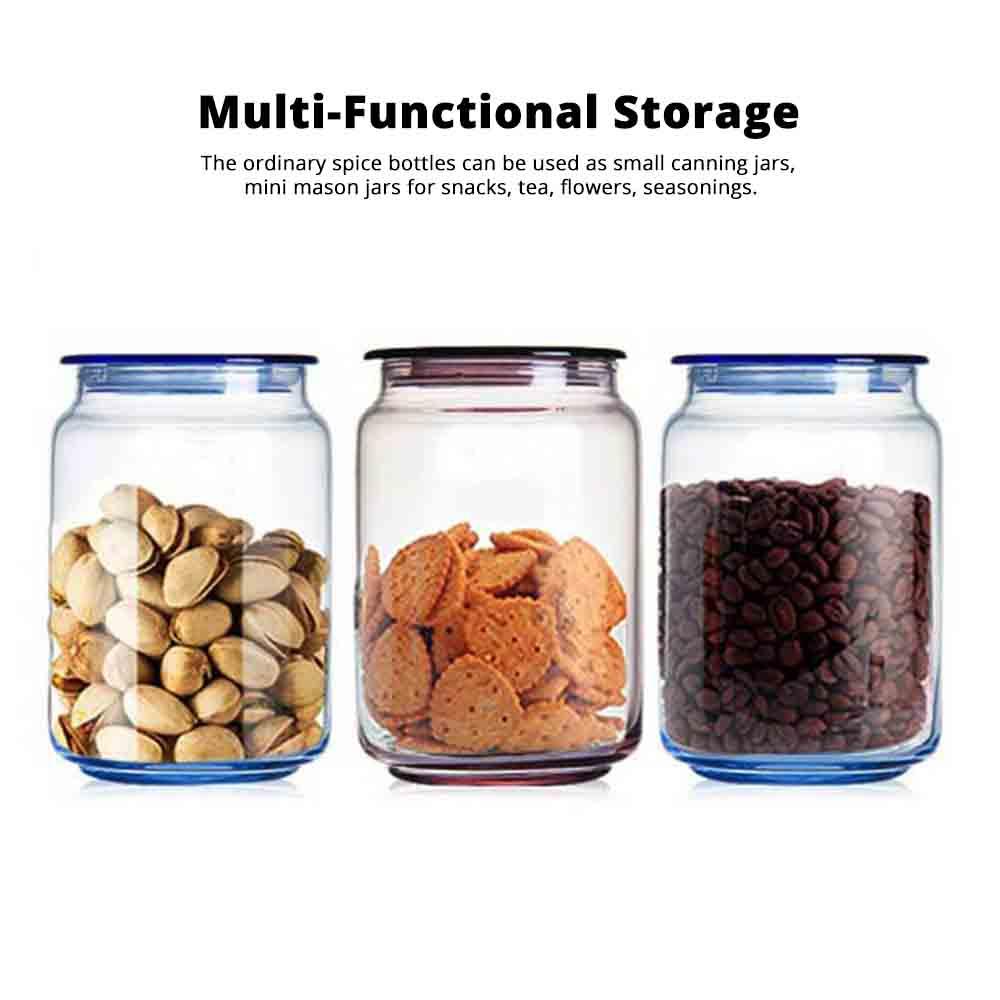 Airtight Glass Bottles Transparent Colorful Jars for Storage Tea, Dried Fruit Organizer, Universal Kitchen Storage 1