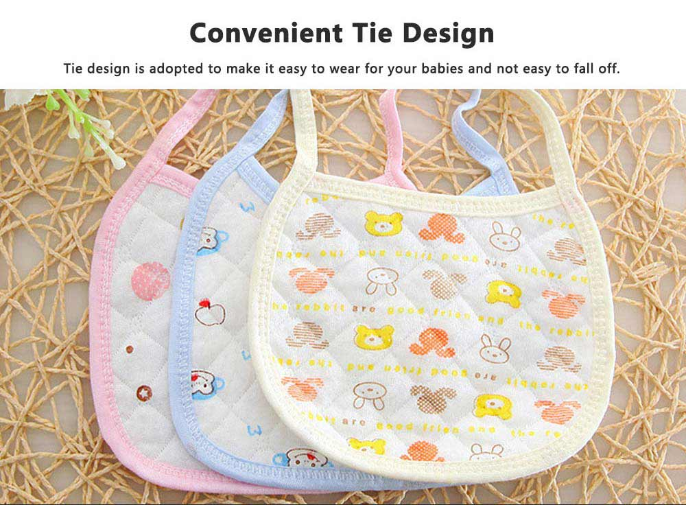 Luxury Smooth Cotton Baby Bibs, Insular Bids for New Born Babies, Cartoon Painting Soft Cotton Pinafore for Infant 5