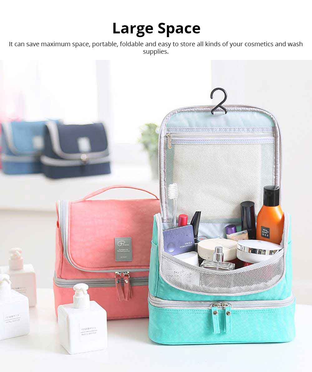 Large-Capacity Cosmetic Bag Washing Bag Nylon Travel Waterproof Make-up Storage Bag 1
