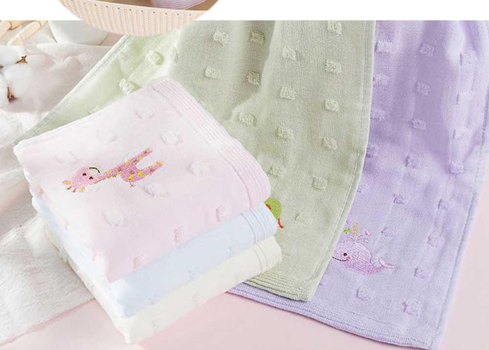 Cute Cartoon Baby Gauze Towel, Absorbent Cotton Baby Bath Towel, Soft Handkerchief Towel for infants, Face Washing Towel for Kids 1