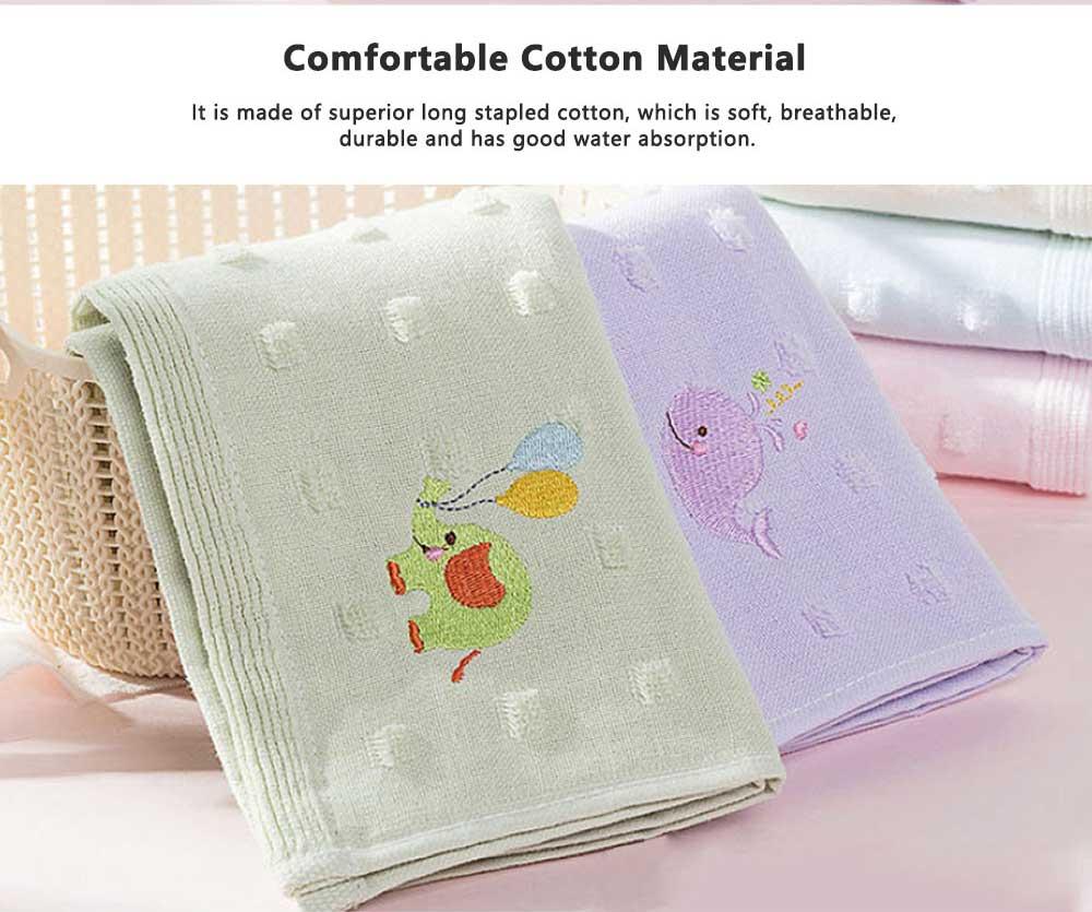 Cute Cartoon Baby Gauze Towel, Absorbent Cotton Baby Bath Towel, Soft Handkerchief Towel for infants, Face Washing Towel for Kids 2