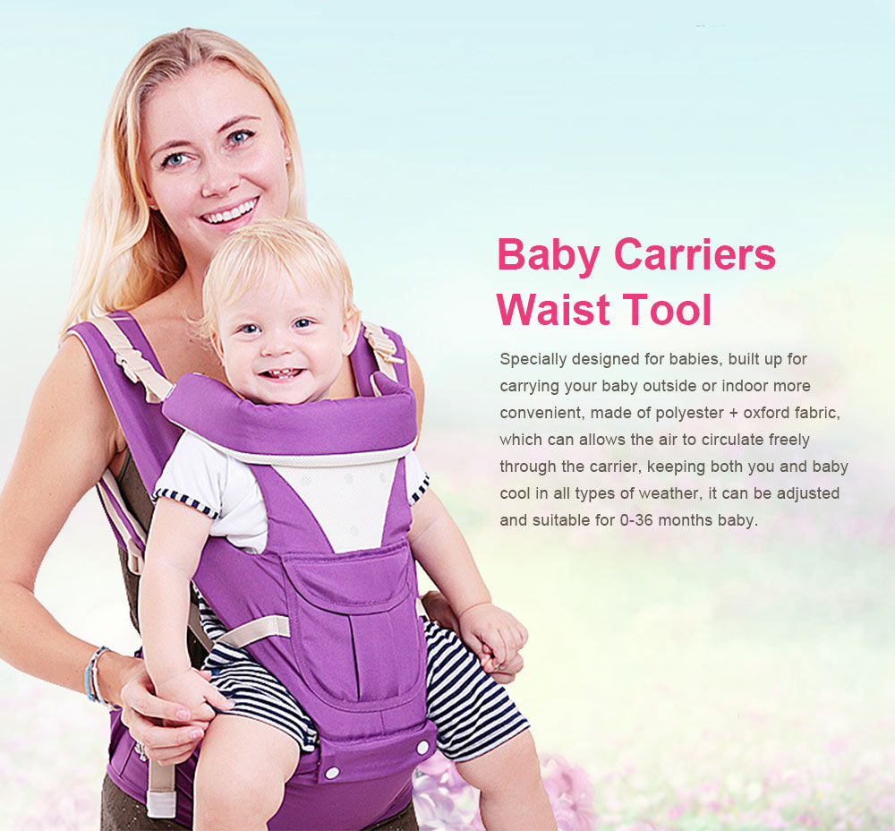 Baby Carriers Waist Stool, Breathable Child Stool Hold Infant and Toddler Product for 0-36 Months Baby Suitable for All Seasons 0