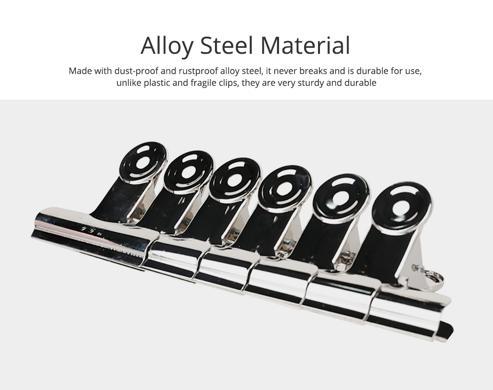Heavy Duty Alloy Steel Clip with Elastic Spring Air Tight Sealing Clip Cubicle Hooks for Office School Kitchen 1