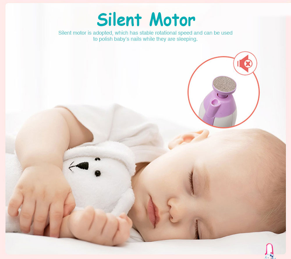 Electric Baby Nail Trimmer, Electric Callus Removers, Safety Essential Infant Nail Care Machine, Safe Trimmer for Both Baby and Adult 1