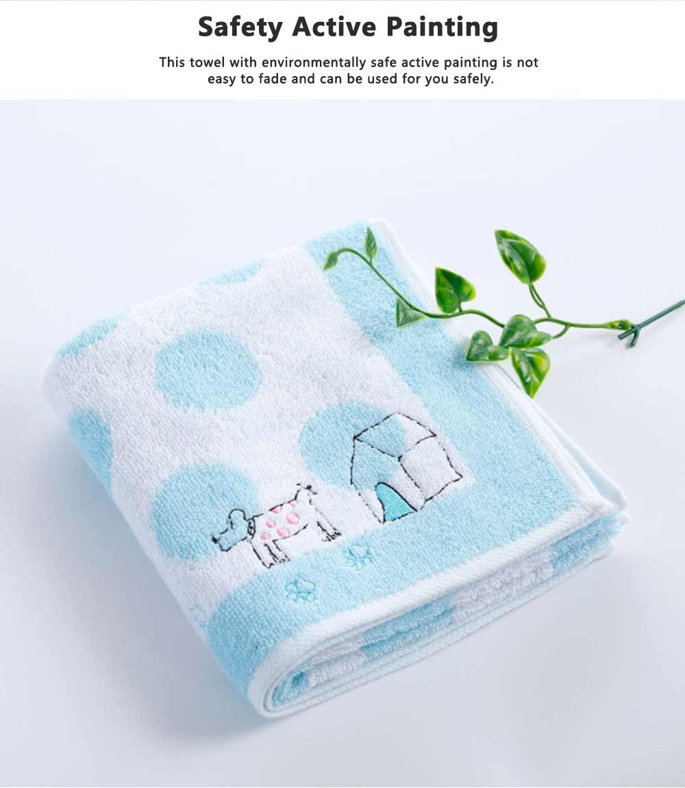 Stain Embroidery Cotton Towel, Luxury Smooth Face Washing Towel, Cute Face Towel with Cartoon Embroidery 3