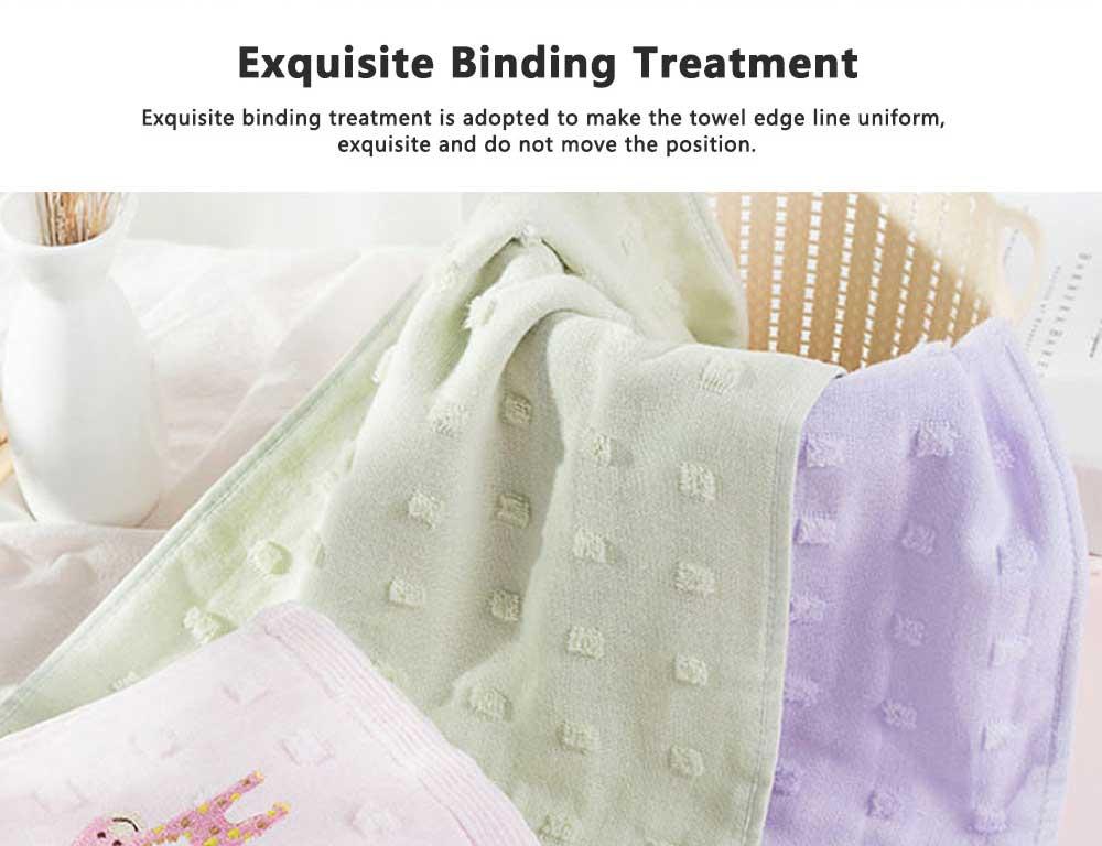 Cute Cartoon Baby Gauze Towel, Absorbent Cotton Baby Bath Towel, Soft Handkerchief Towel for infants, Face Washing Towel for Kids 4