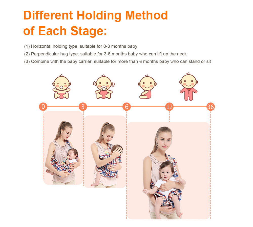 Baby Carriers with Single Shoulder Strap, Multiple Colors Carrier Toddler Product Suitable for Newborn Infants and Toddler 9