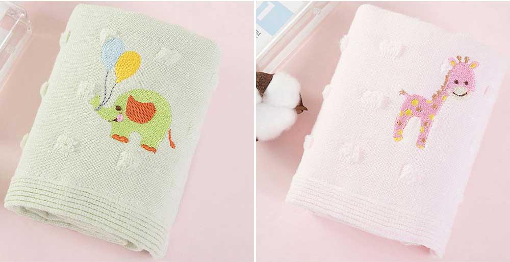 Cute Cartoon Baby Gauze Towel, Absorbent Cotton Baby Bath Towel, Soft Handkerchief Towel for infants, Face Washing Towel for Kids 7