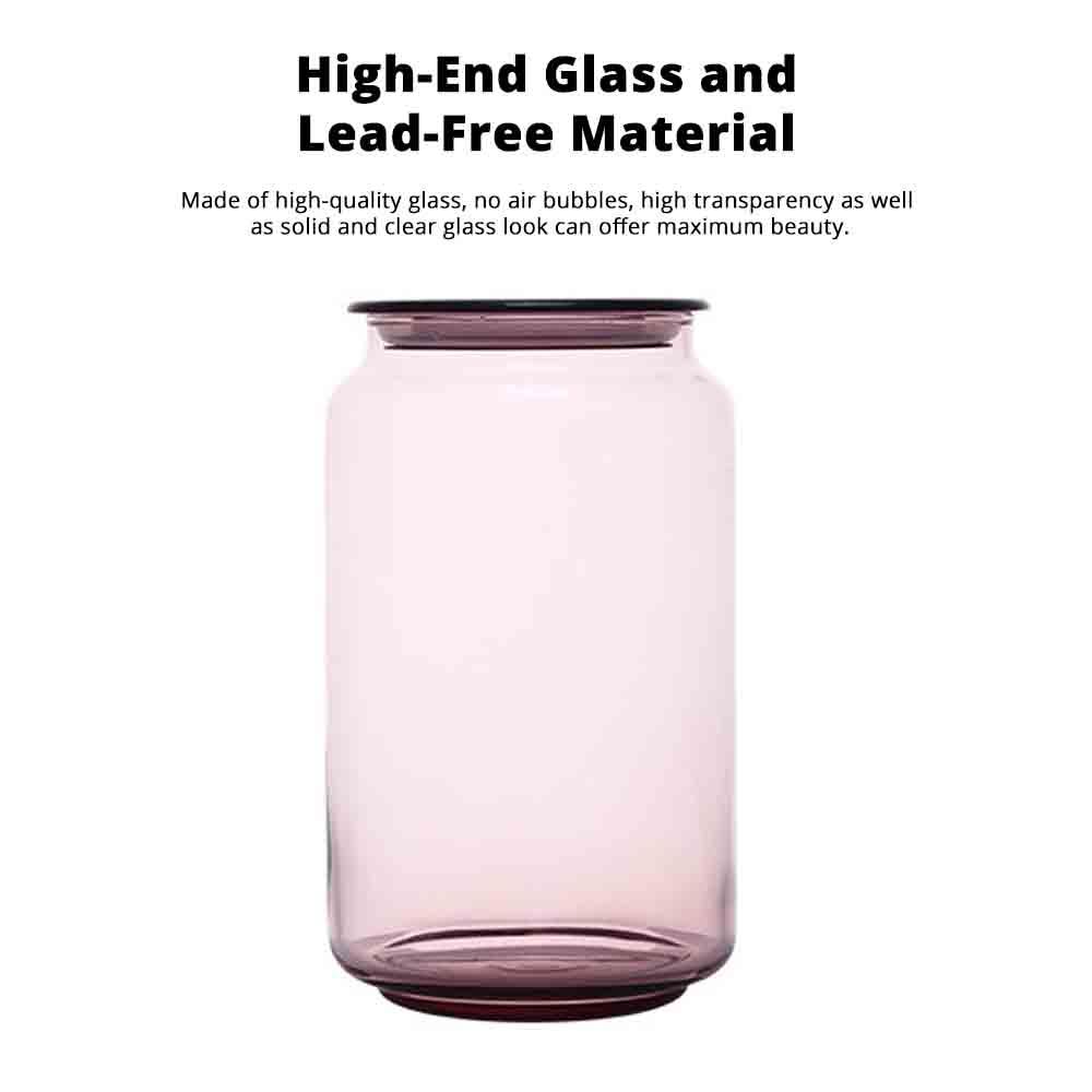 Airtight Glass Bottles Transparent Colorful Jars for Storage Tea, Dried Fruit Organizer, Universal Kitchen Storage 4