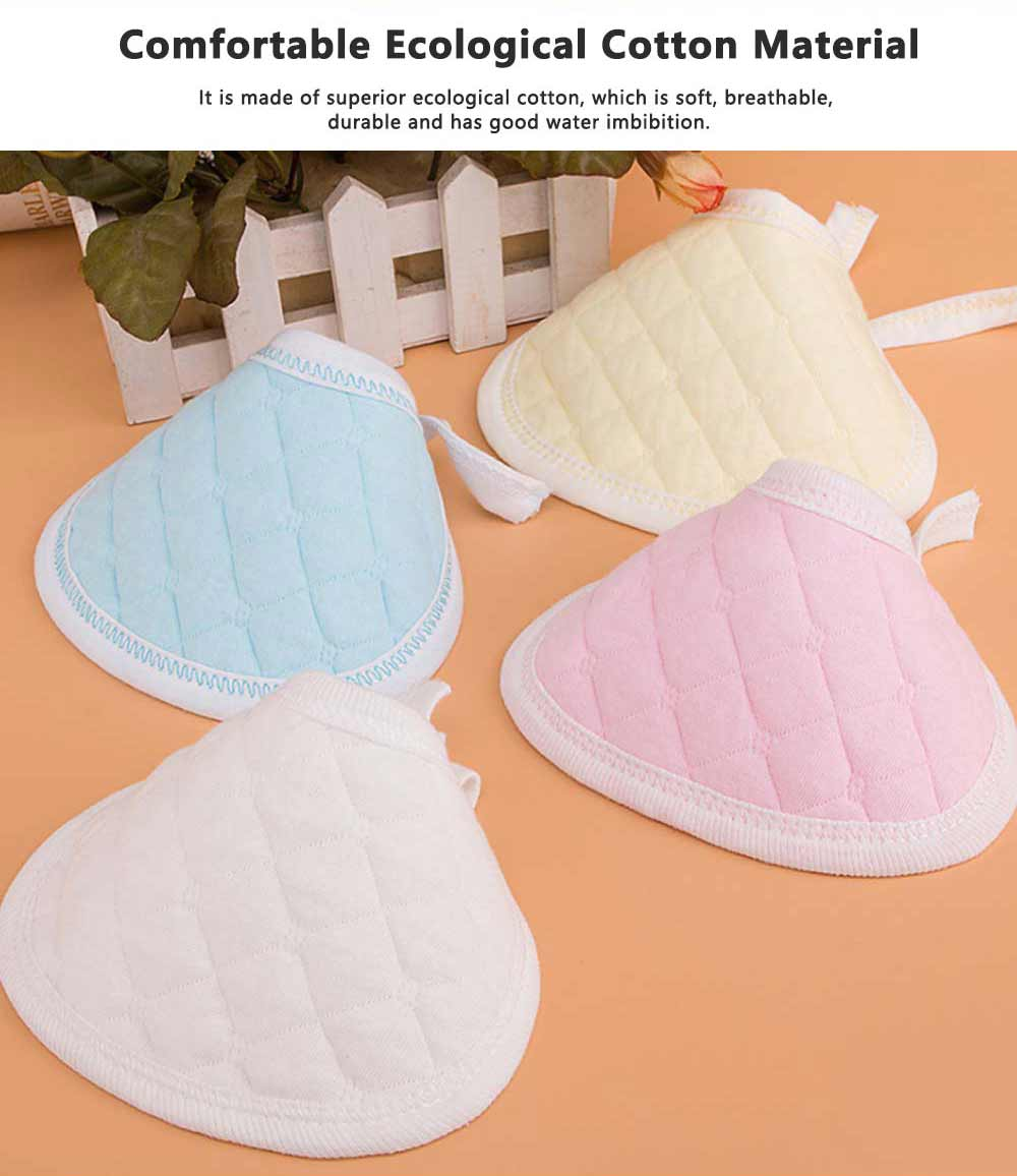 Luxury Soft Ecological Cotton Baby Bibs, Burp Bibs for New Born Infants, Baby Feeding Head Scarf Towel with Lace 1