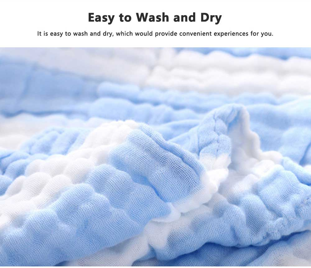 6 Layers Gauze Cotton Baby Bath Towel, Soft Smooth Baby Blanket Used in Summer, Sleeping Warp Blanket for Infants 4