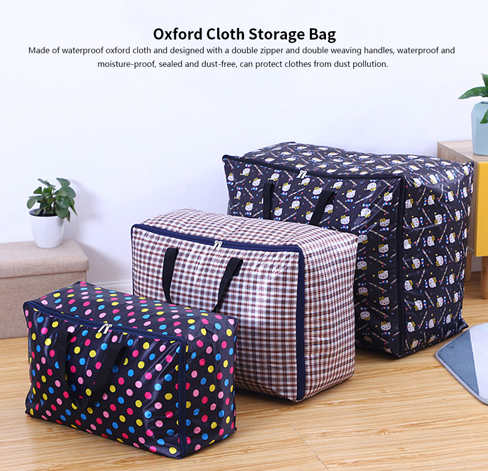 Oxford Moval Bag, Thicken Washable Quilt Storage Bag, Quilt and Clothes Oxford Cloth Storage Bag 0