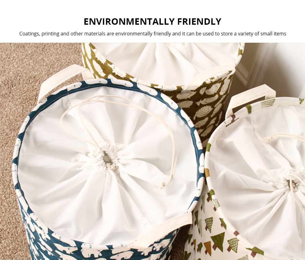 Universal Laundry Basket Groceries Japan and South Korea Color Printing Cartoon Storage Bucket, Dirty Clothes Storage Container 5