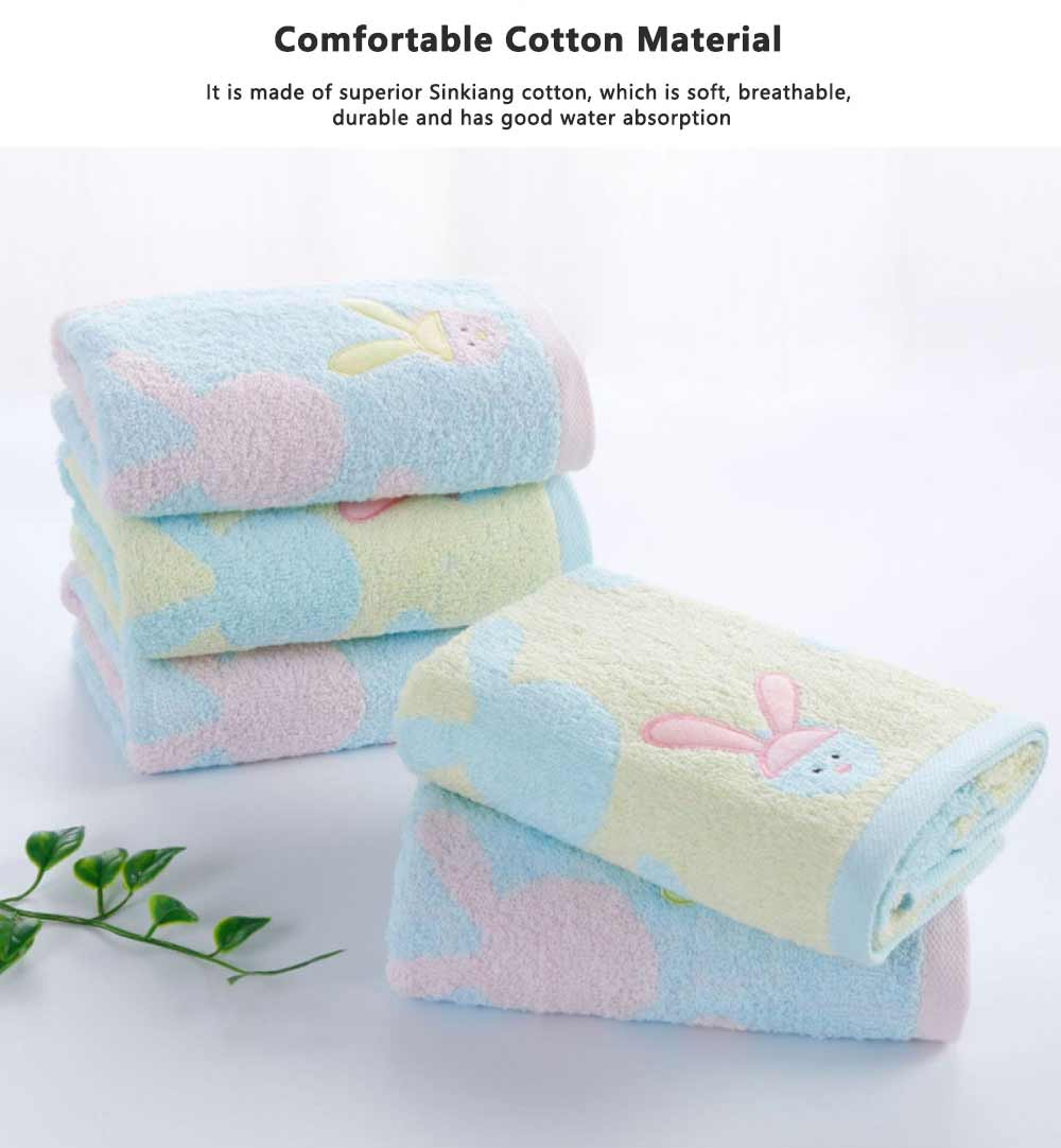 Stain Embroidery Cotton Towel, Luxury Smooth Face Washing Towel, Cute Face Towel with Cartoon Embroidery 1