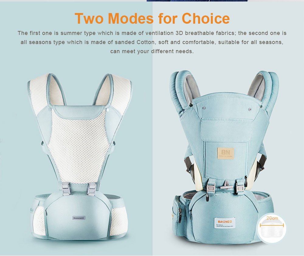 3 in 1 Toddler Waist Stool Baby Carrier, Multiple Functions Infant Breathable Child Stool Hold Infant and Toddler Product Suitable for All Seasons 1