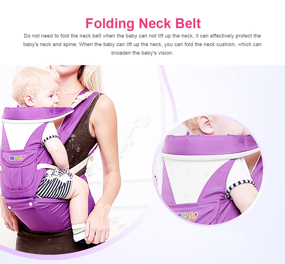 Baby Carriers Waist Stool, Breathable Child Stool Hold Infant and Toddler Product for 0-36 Months Baby Suitable for All Seasons 4