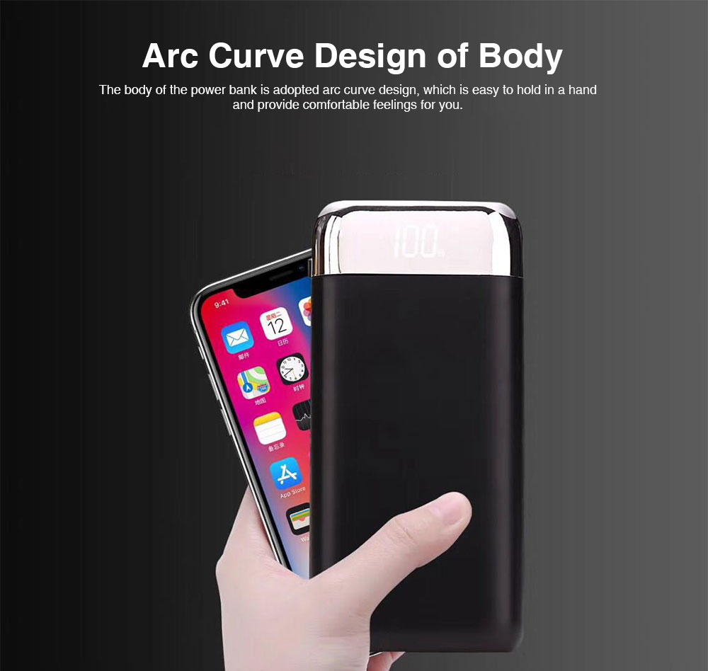20000 MAH Large Capacity Power Bank, Minimalist Portable External Battery with Display Screen, Ultra High Capacity Power Bank for Cell Phone 1