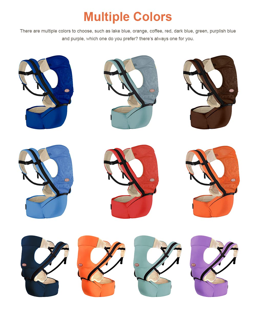 Multiple Functions Baby Carriers Waist Stool, Breathable Child Stool Hold Infant and Toddler Product for 0-36 months baby 7