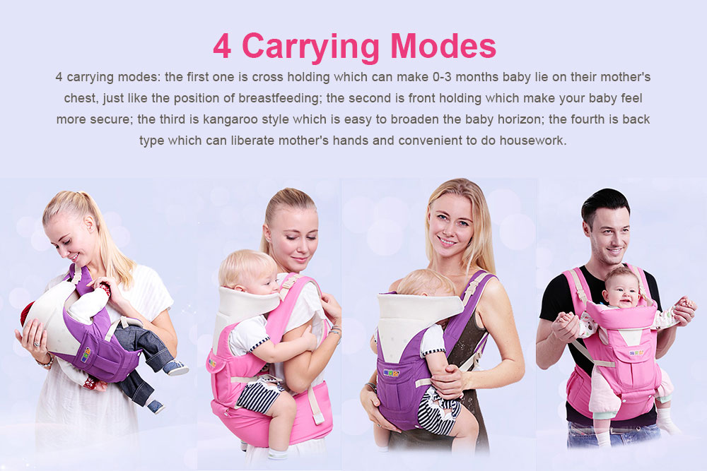 Baby Carriers Waist Stool, Breathable Child Stool Hold Infant and Toddler Product for 0-36 Months Baby Suitable for All Seasons 11