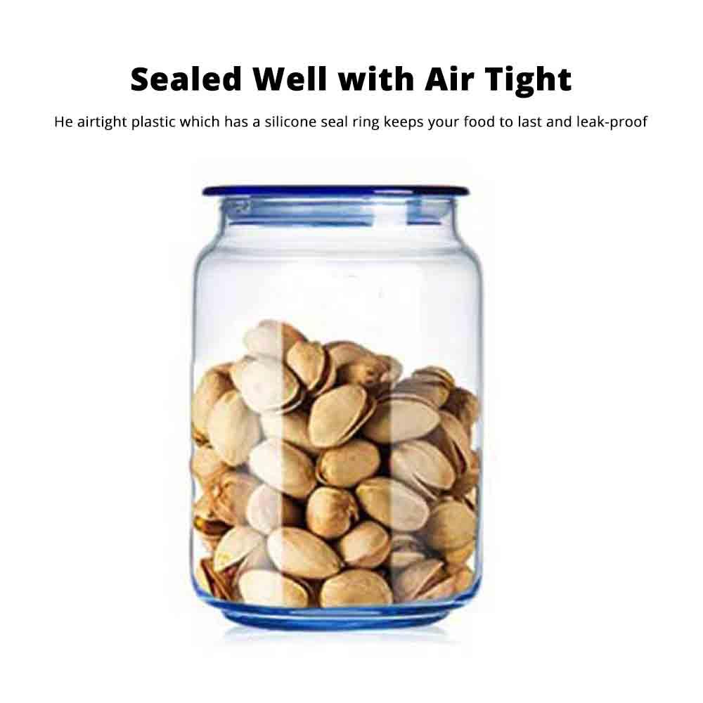 Airtight Glass Bottles Transparent Colorful Jars for Storage Tea, Dried Fruit Organizer, Universal Kitchen Storage 2