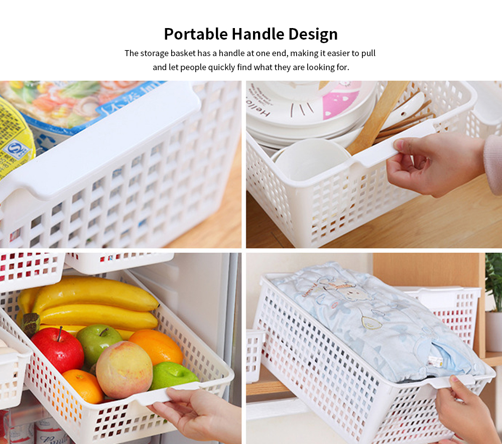 Plastic Storage Basket, Hollow Large Children's Toy Storage Basket, Kitchen Vegetable Storage Basket, wholesale 2