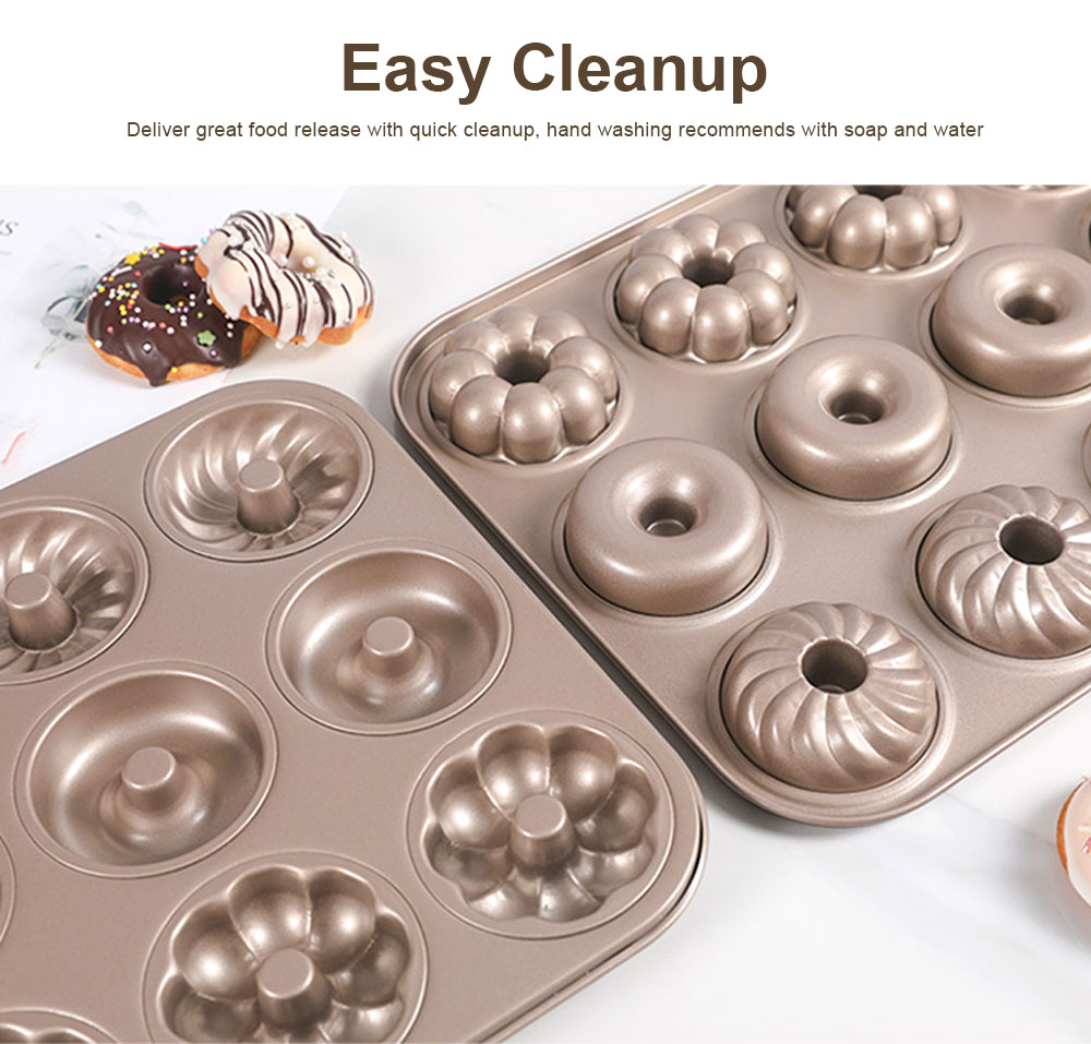 Round 12 Continuous Mold Non-Stick Household Donut Cake Mold Small Bread Baking Mold Commercial Large Baking Tray 2