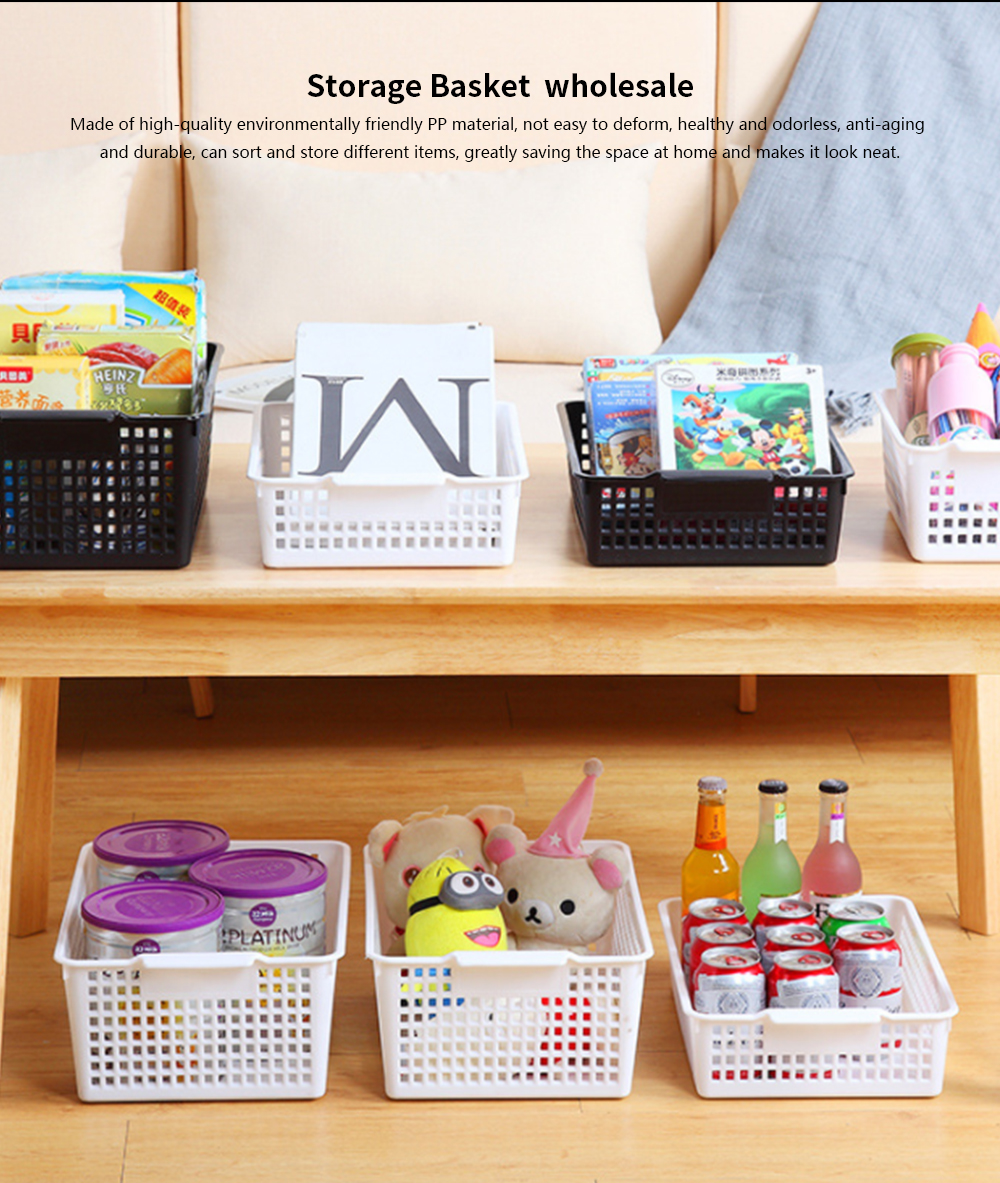Plastic Storage Basket, Hollow Large Children's Toy Storage Basket, Kitchen Vegetable Storage Basket, wholesale 0