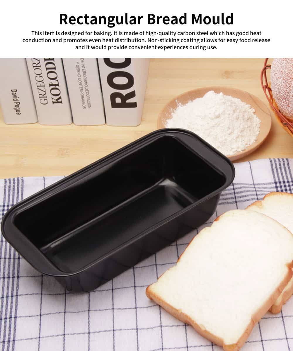 Rectangular Bread Mould, Nonstick Toast Mold, Baking Mold, Durable Non-stick Functional Cake Mould 0