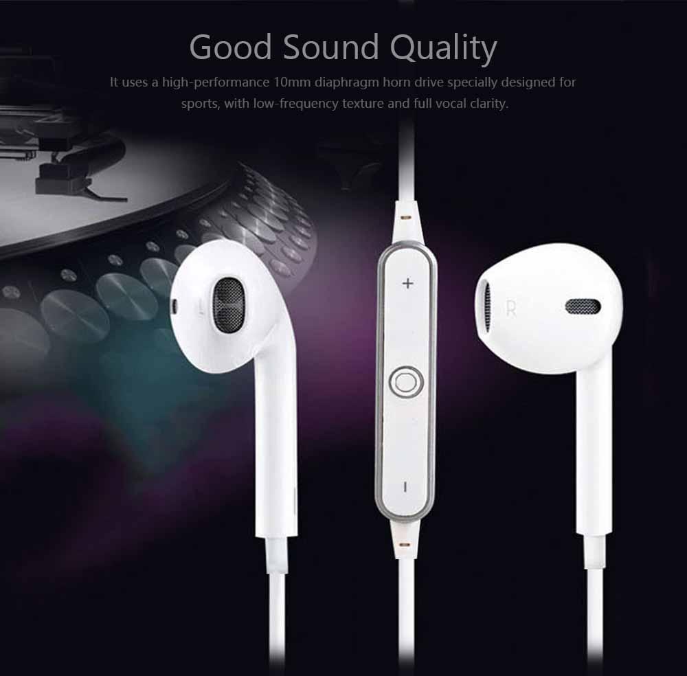 S6 Bluetooth Headset, Sports 4.1 Stereo Wireless Earbuds Gift Explosion Bluetooth Headset, Wireless Bluetooth Earphone 2