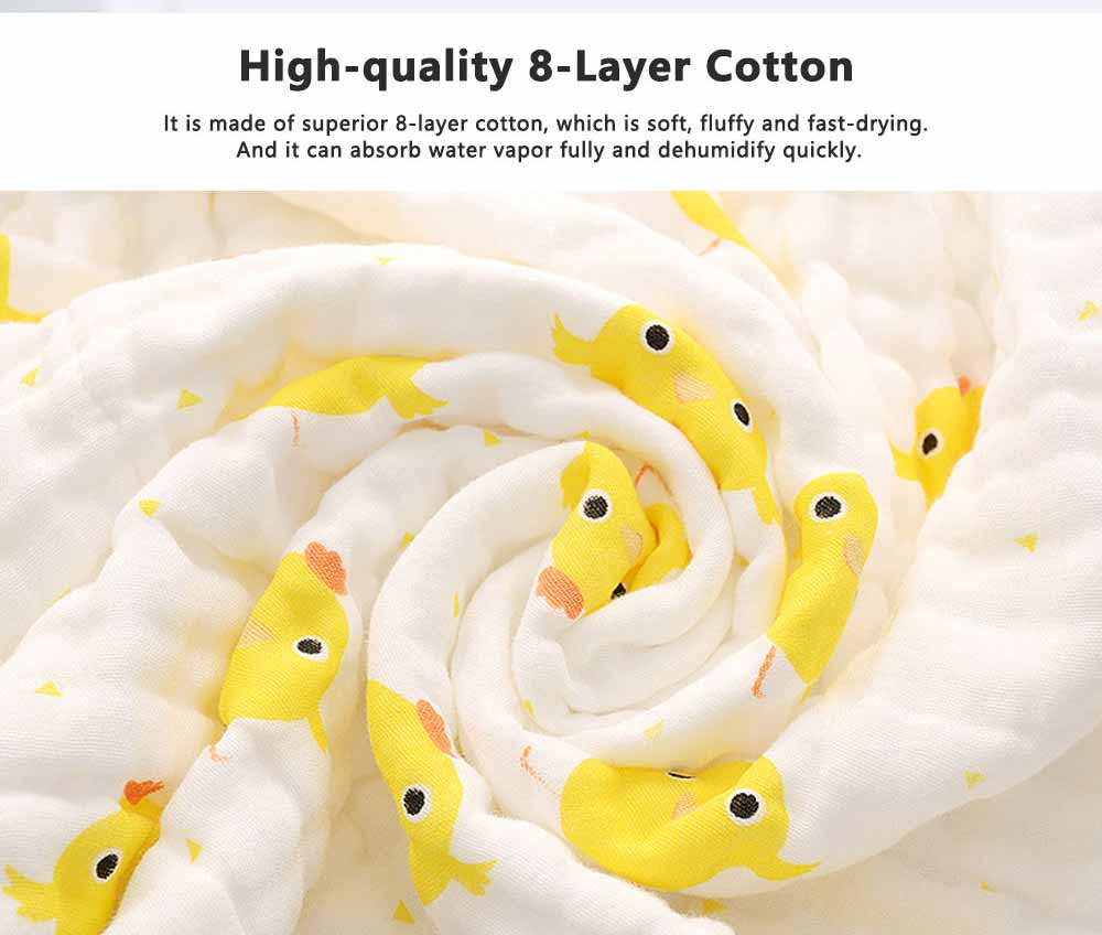 Chicken Pattern Baby Cotton Gauze Towel, Comfortable Cute Infant Face Towel, Soft Burp Cloth for New Born Baby 1