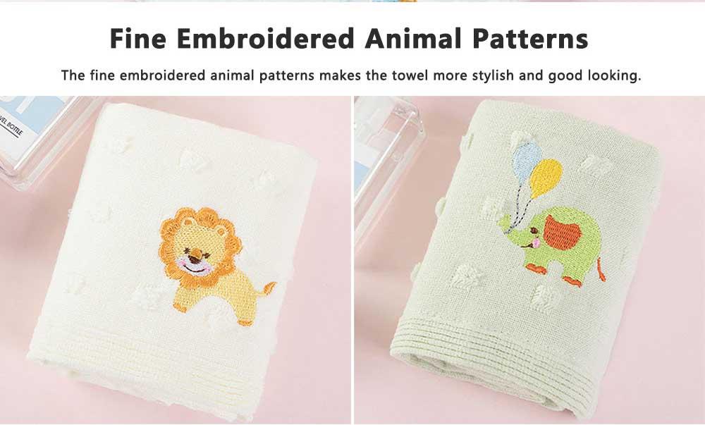 Cute Cartoon Baby Gauze Towel, Absorbent Cotton Baby Bath Towel, Soft Handkerchief Towel for infants, Face Washing Towel for Kids 6