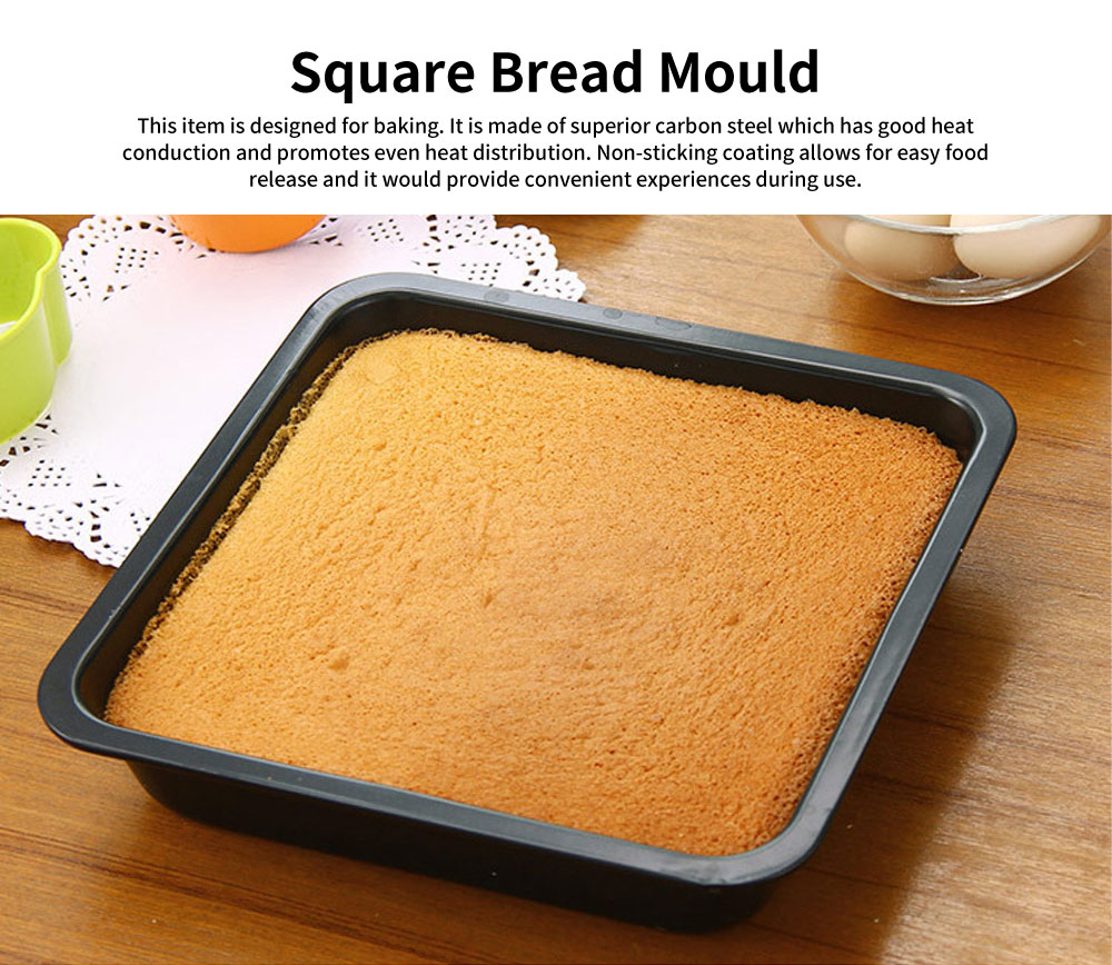 Square Cake Mould, Nonstick Baking Mold, Baking Mold, Durable Non-stick Functional Cake Mould, Handmade Tool 0