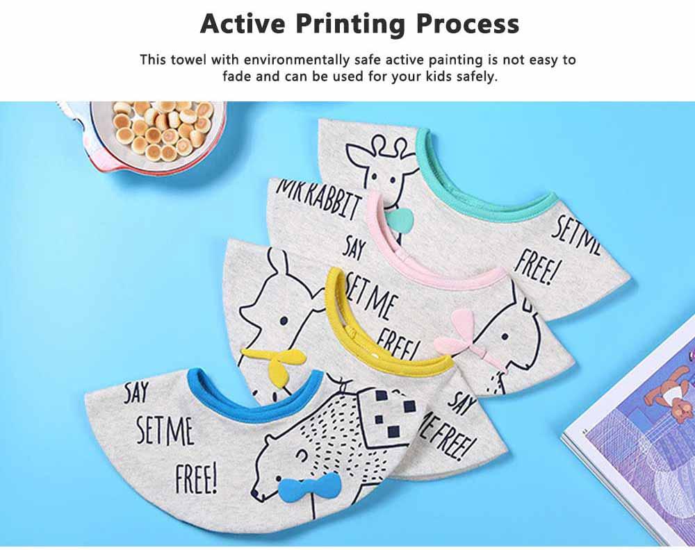 Creative Cartoon Baby Bib, 360 Degrees Rotation Burp Bibs for New Born Infants, Baby Feeding Head Scarf Towel with Convenient Snap Fastener 4