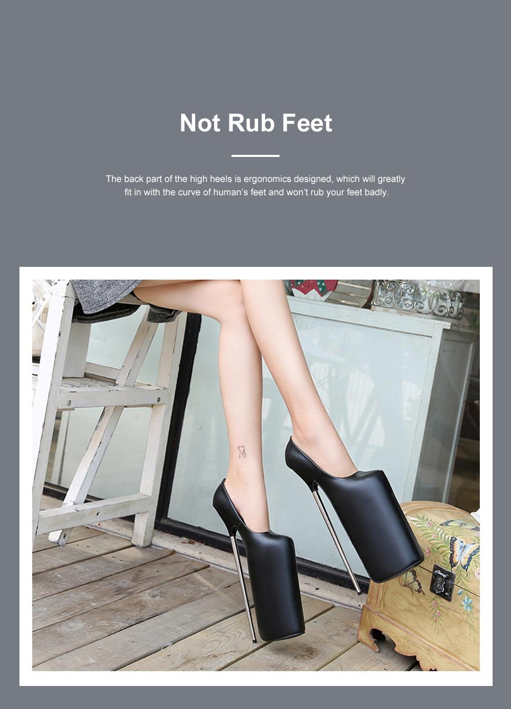 Stylish Sexy 30cm Platform Design High Heels Soft Skin-friendly PU Night Club Shoes with Anti-slip Rubber Sole Ins Hot 2