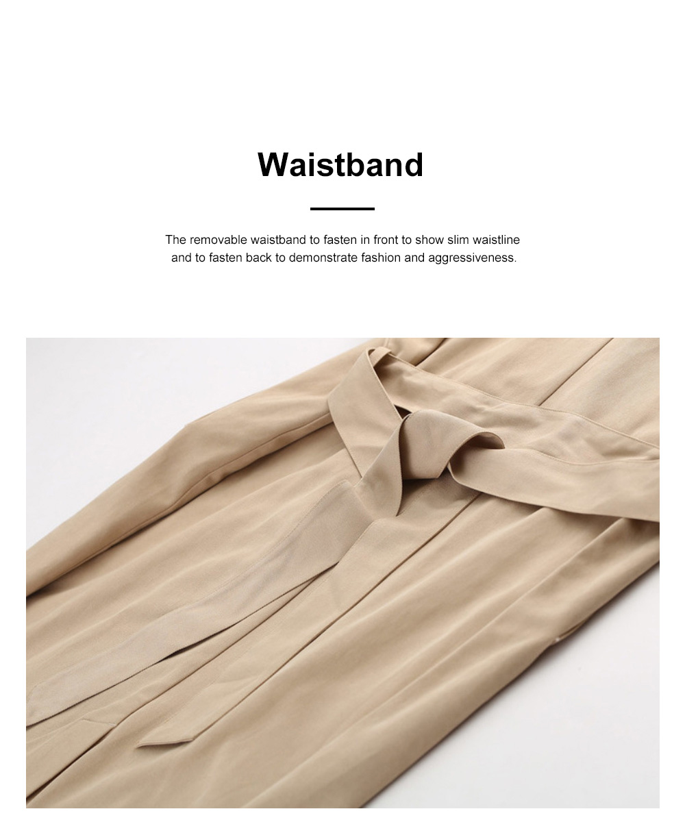 Color Contrast Plaid Cuff Wind Coat New Style Flip Collar Dust Coat for Women Wear Loose Version Mixed Fabric Windbreaker Long Pattern Trench Coat  3