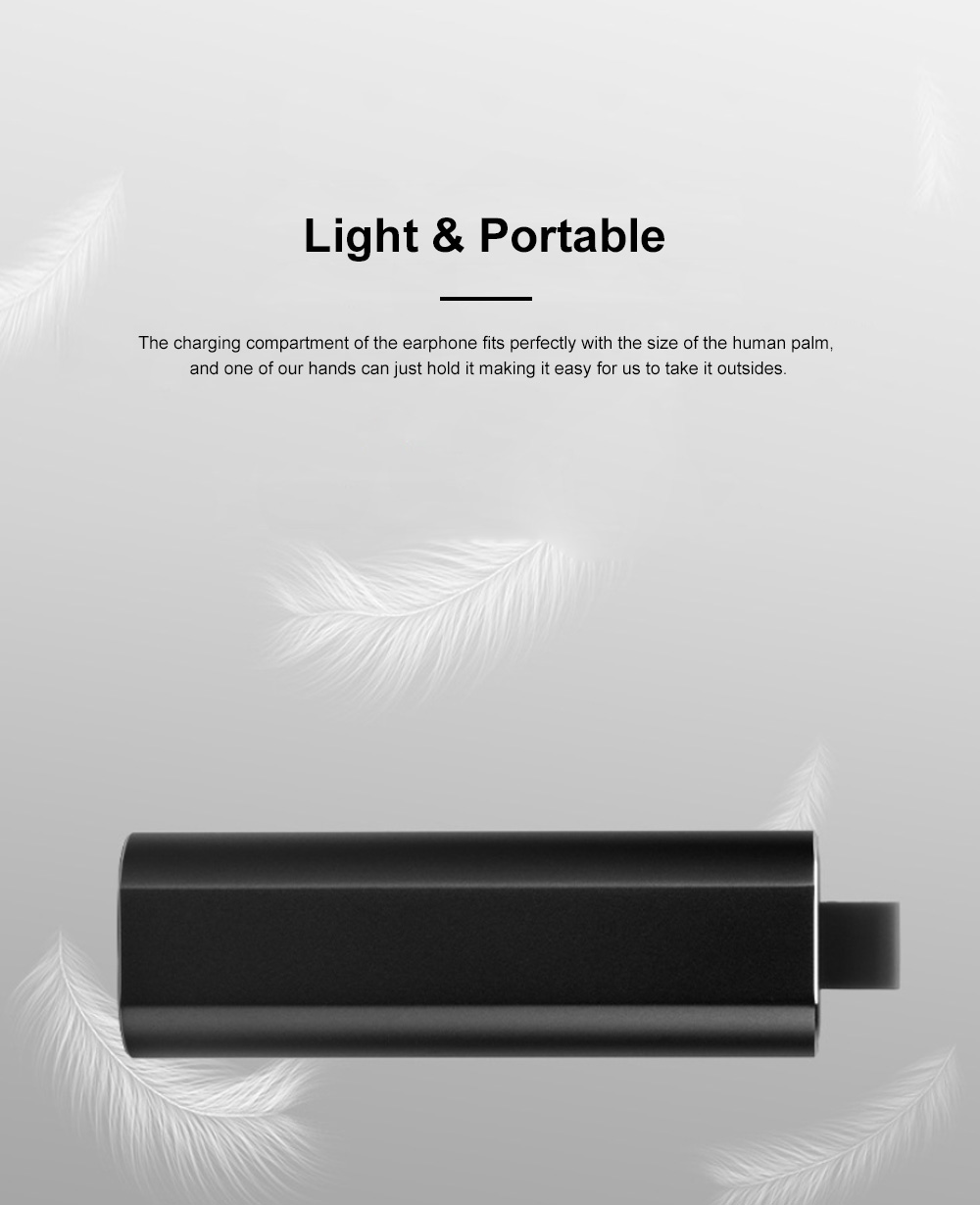 Portable Pull-Out Type Metal Case Bluetooth Earphones Long Endurance Wireless Headset with Wonderful Sound Quality 7